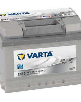 Akumulator 61Ah 600A P+ Varta Silver D21