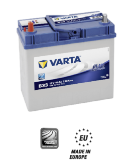 Akumulator 45Ah 330A L+ Varta Blue B33 Japan