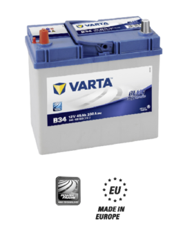 Akumulator 45Ah 330A L+ Varta Blue B34 Japan